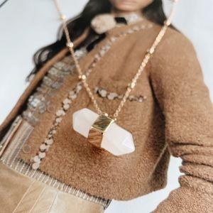 NORDSTROM White Quartz Necklace